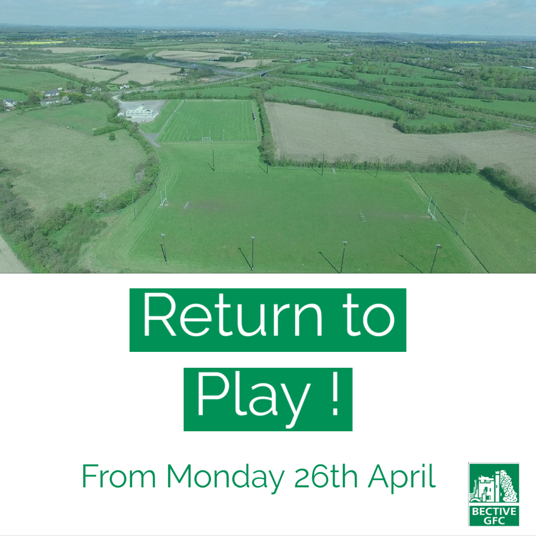 Return To Play – 26th April 2021
